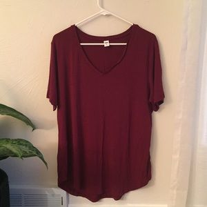 Old Navy Luxe v-neck  tee
